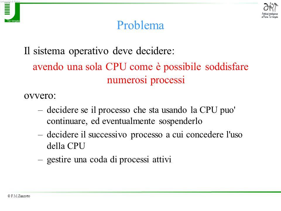 avendo una sola CPU come è possibile soddisfare numerosi processi