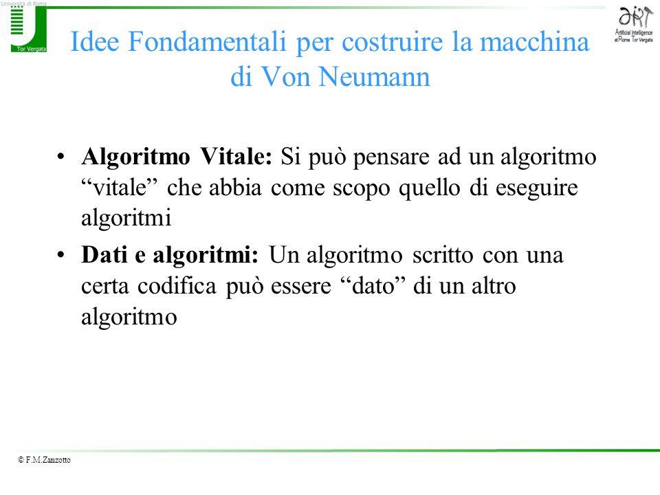 Idee Fondamentali per costruire la macchina di Von Neumann