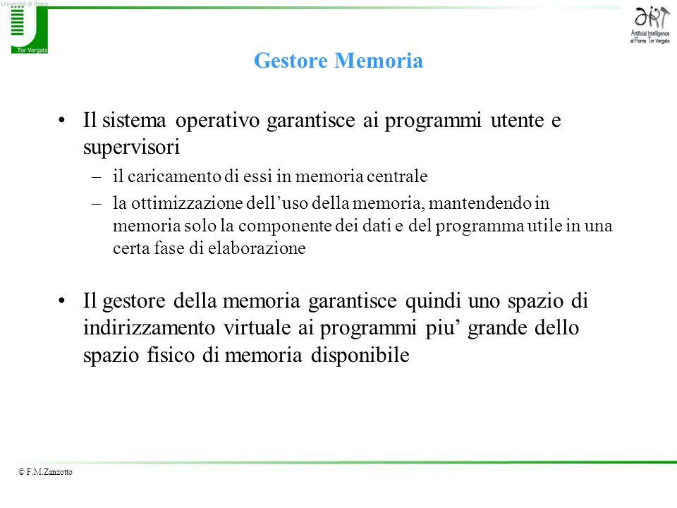 Il sistema operativo garantisce ai programmi utente e supervisori