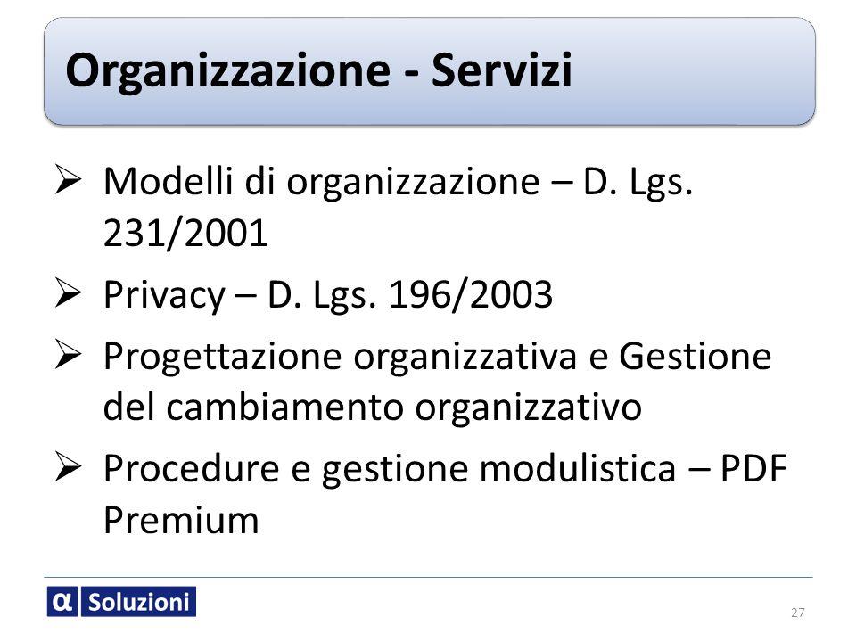 Organizzazione - Servizi