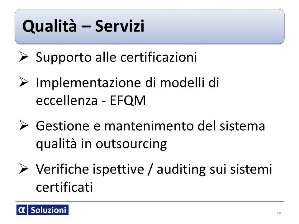 Supporto alle certificazioni