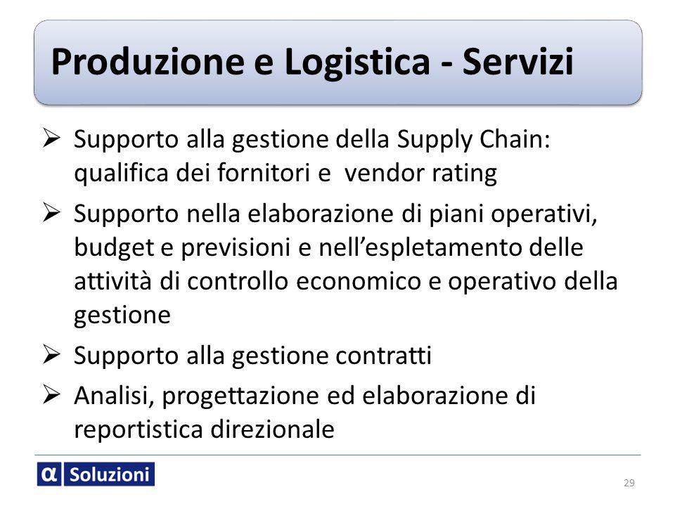 Produzione e Logistica - Servizi