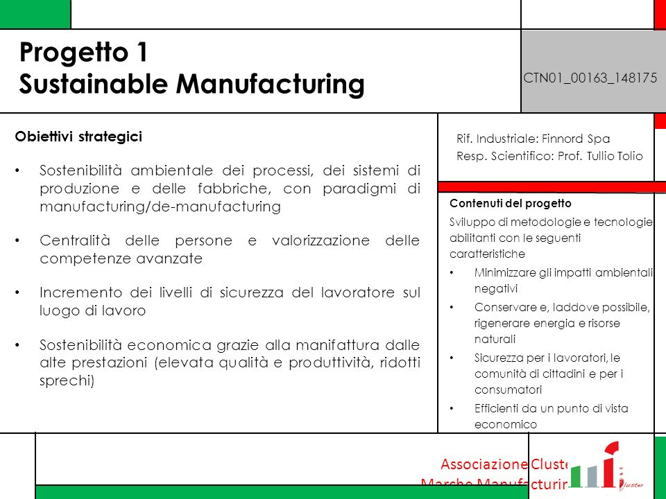 Progetto 1 Sustainable Manufacturing