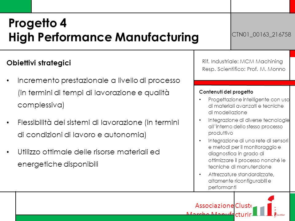 Progetto 4 High Performance Manufacturing