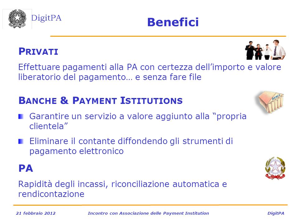 Benefici Privati Banche & Payment Istitutions PA