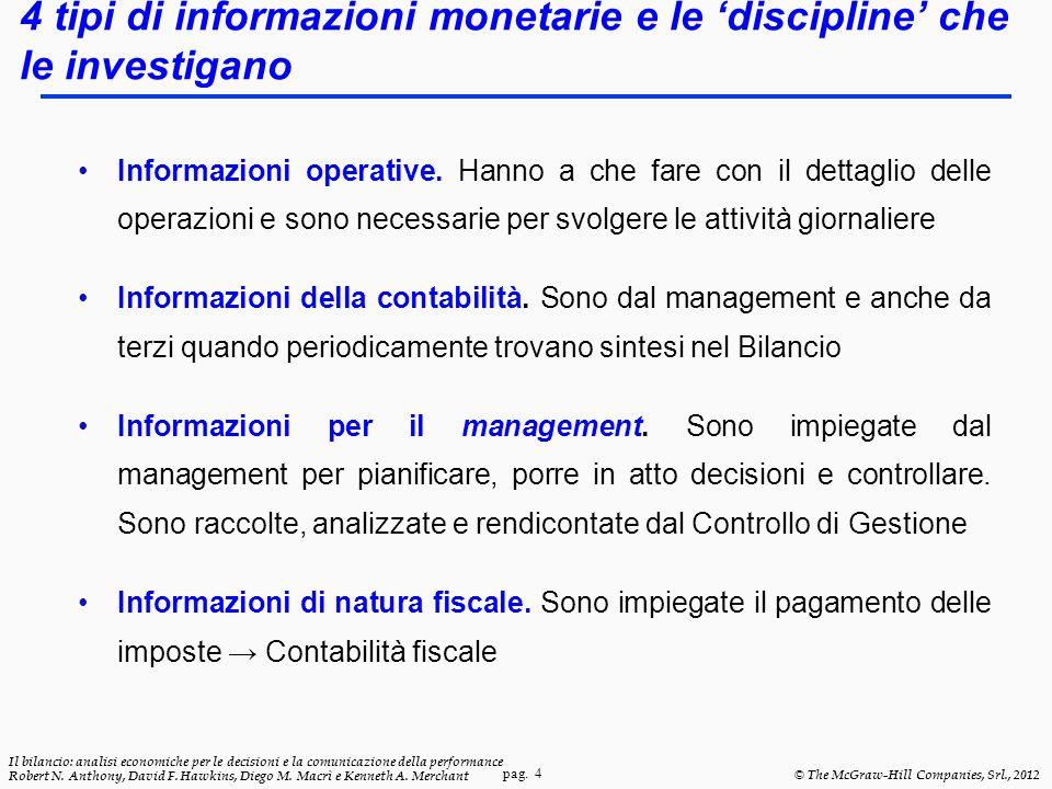 4 tipi di informazioni monetarie e le 'discipline' che le investigano
