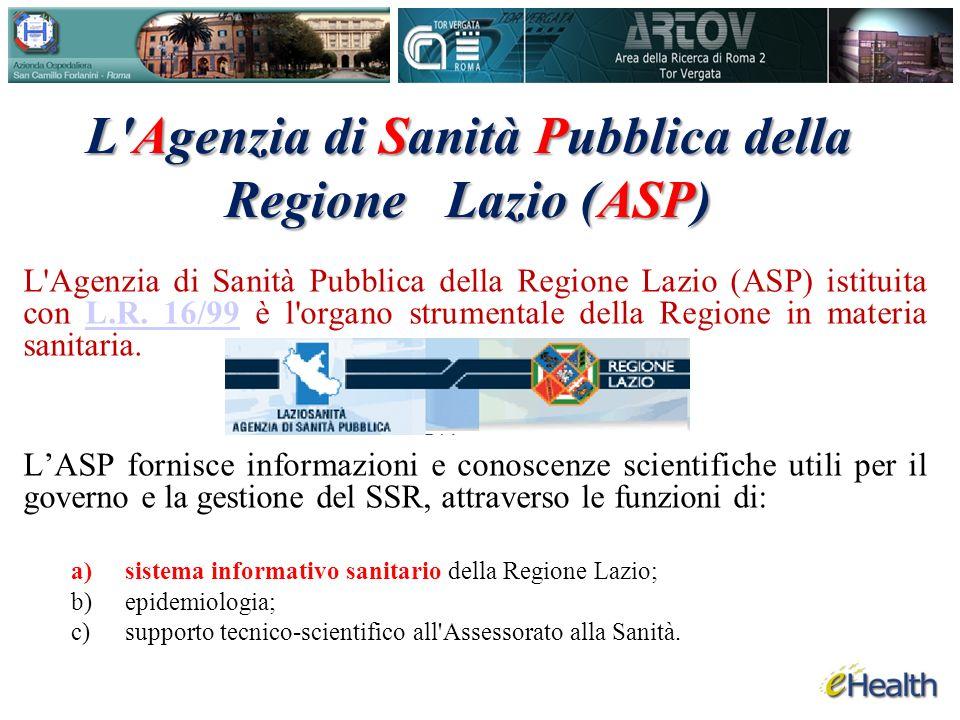 L Agenzia di Sanità Pubblica della Regione Lazio (ASP)