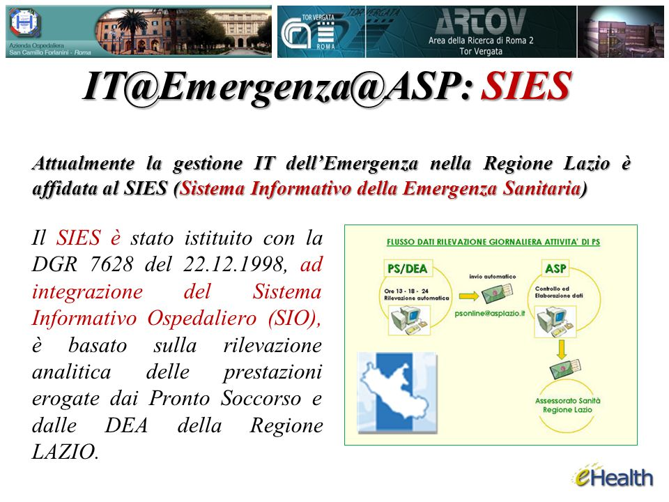 IT@Emergenza@ASP: SIES