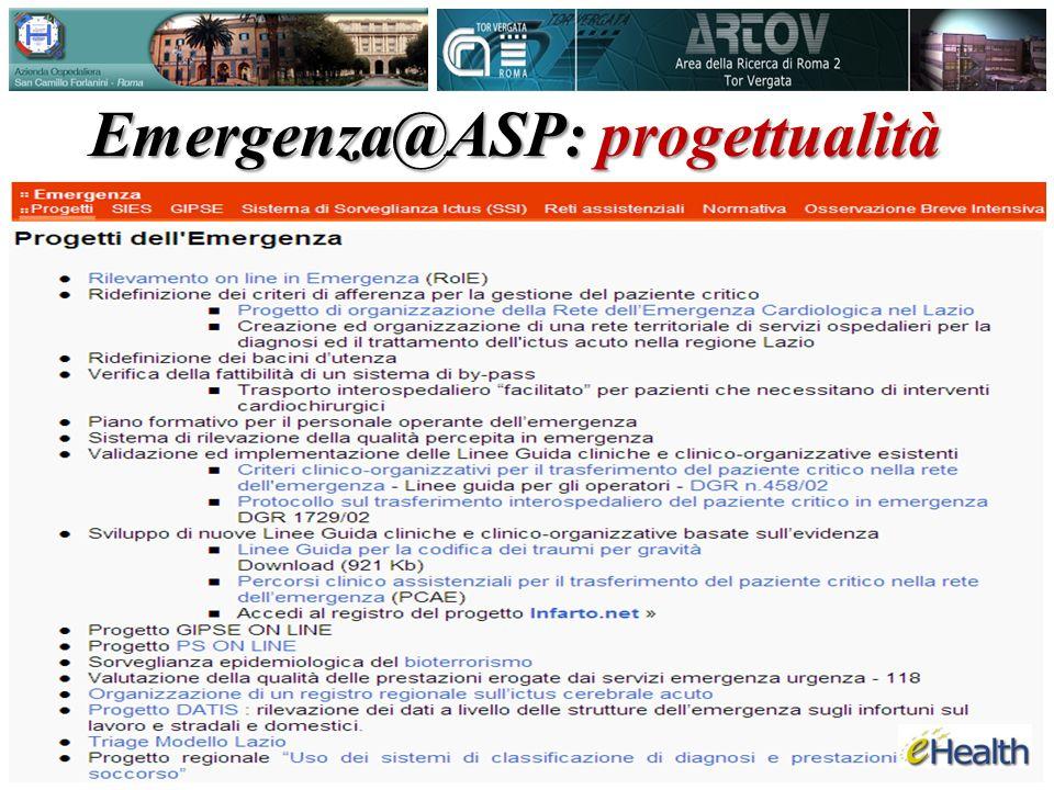 Emergenza@ASP: progettualità