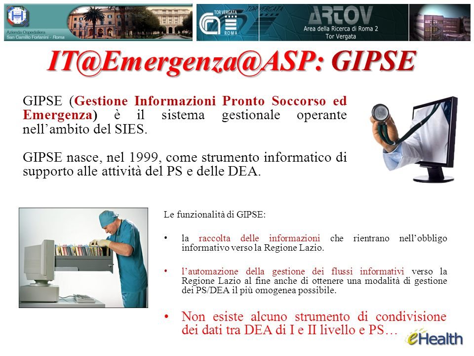 IT@Emergenza@ASP: GIPSE