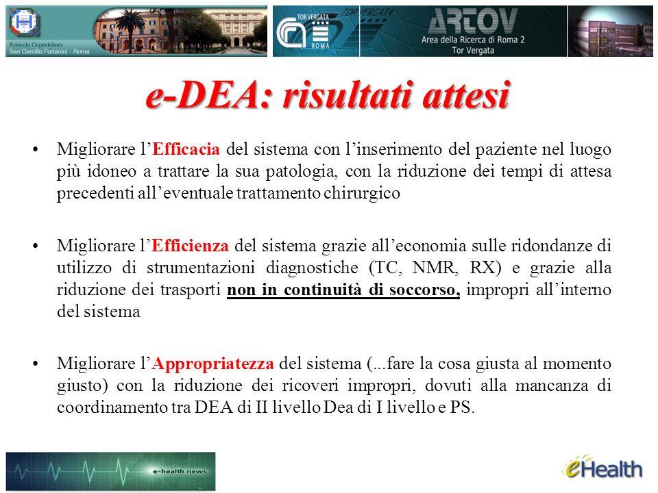 e-DEA: risultati attesi