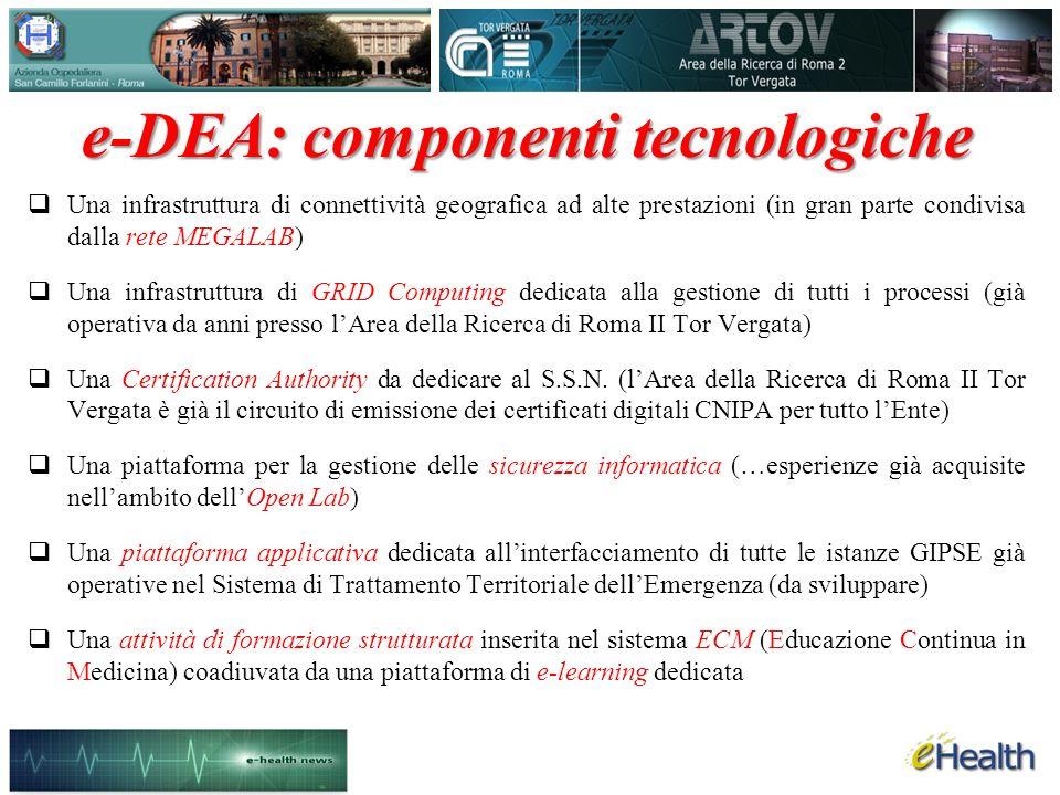 e-DEA: componenti tecnologiche