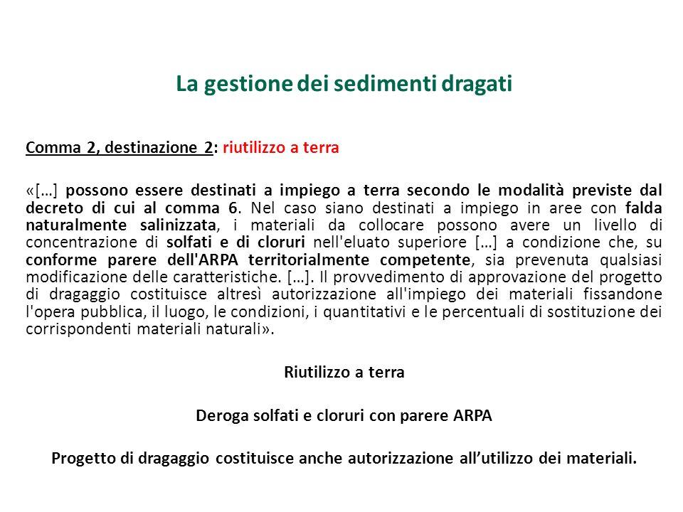 Deroga solfati e cloruri con parere ARPA