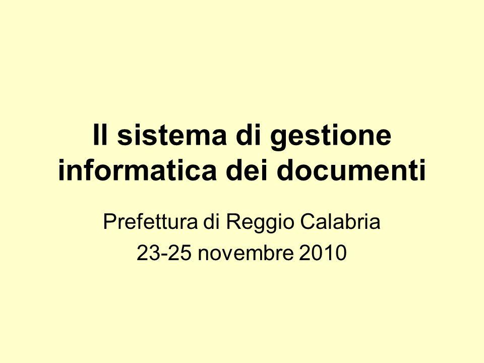 Il sistema di gestione informatica dei documenti