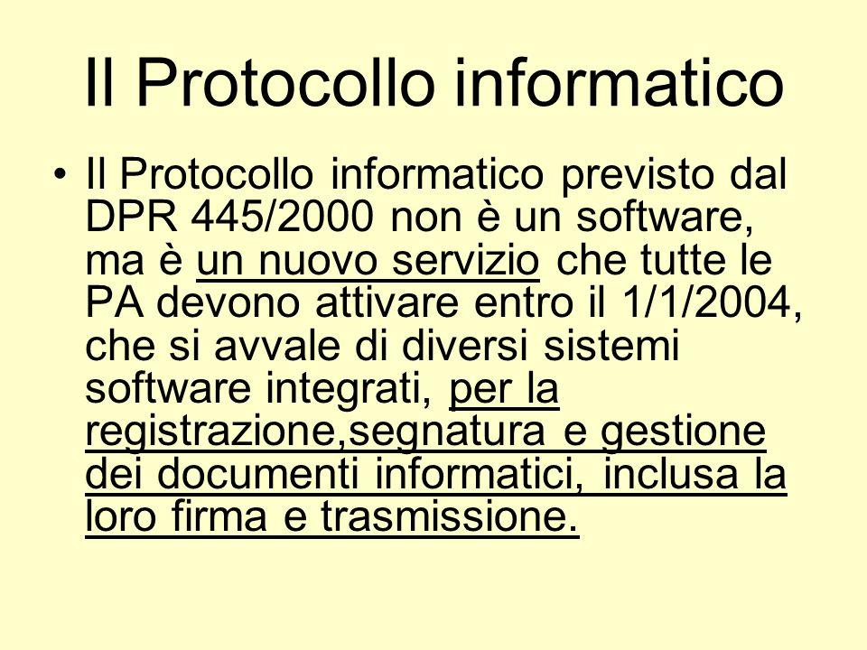 Il Protocollo informatico