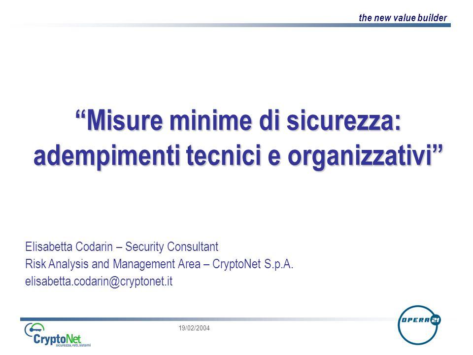 Misure minime di sicurezza: adempimenti tecnici e organizzativi