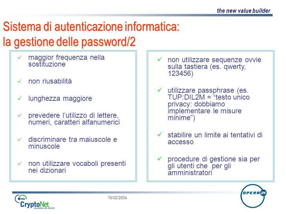 Sistema di autenticazione informatica: la gestione delle password/2