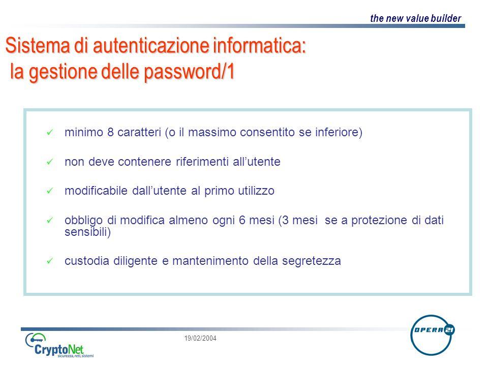 Sistema di autenticazione informatica: la gestione delle password/1