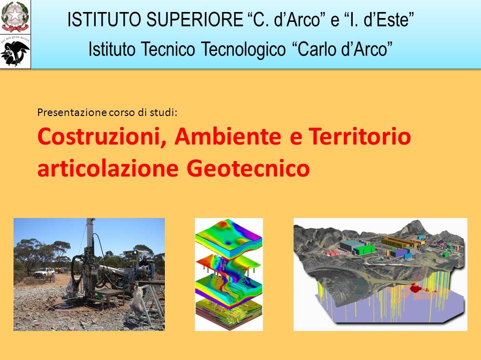 Costruzioni, Ambiente e Territorio articolazione Geotecnico