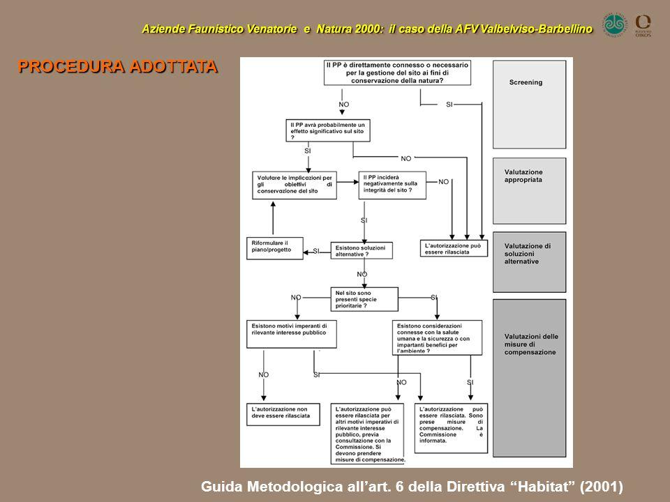 PROCEDURA ADOTTATA Guida Metodologica all'art. 6 della Direttiva Habitat (2001)