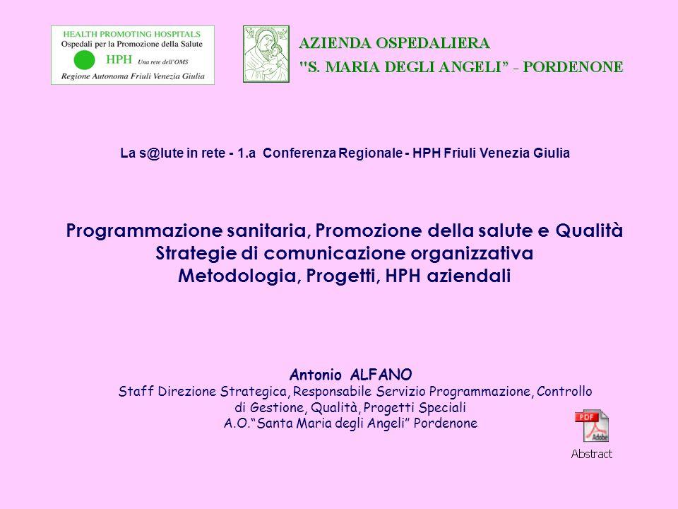 Programmazione sanitaria, Promozione della salute e Qualità