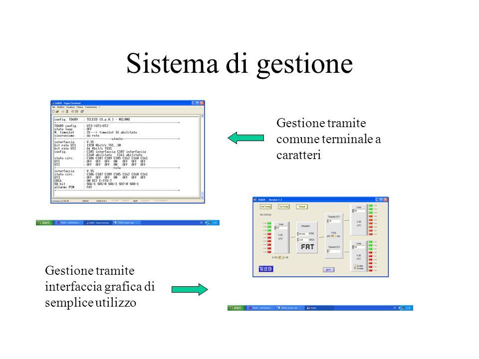 Sistema di gestione Gestione tramite comune terminale a caratteri