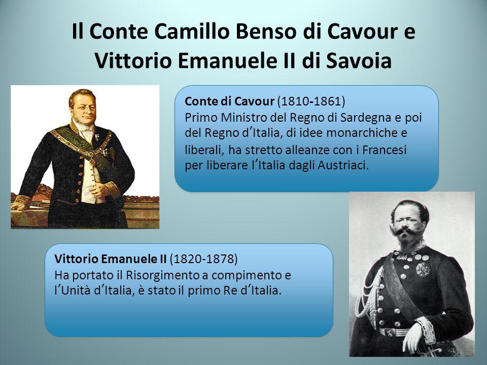 Il Conte Camillo Benso di Cavour e Vittorio Emanuele II di Savoia