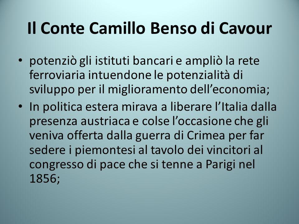 Il Conte Camillo Benso di Cavour