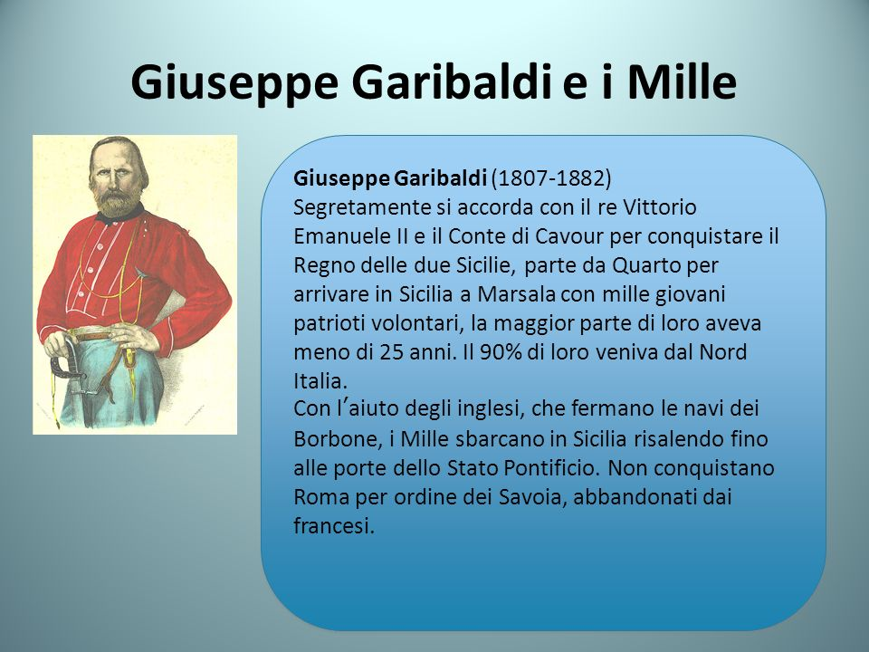 Giuseppe Garibaldi e i Mille