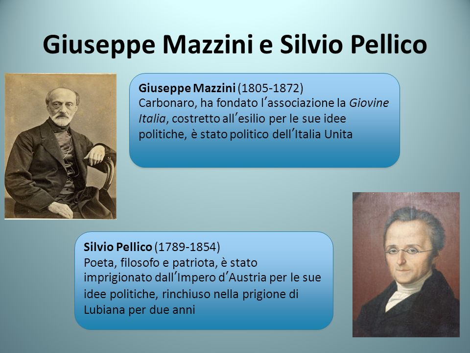 Giuseppe Mazzini e Silvio Pellico