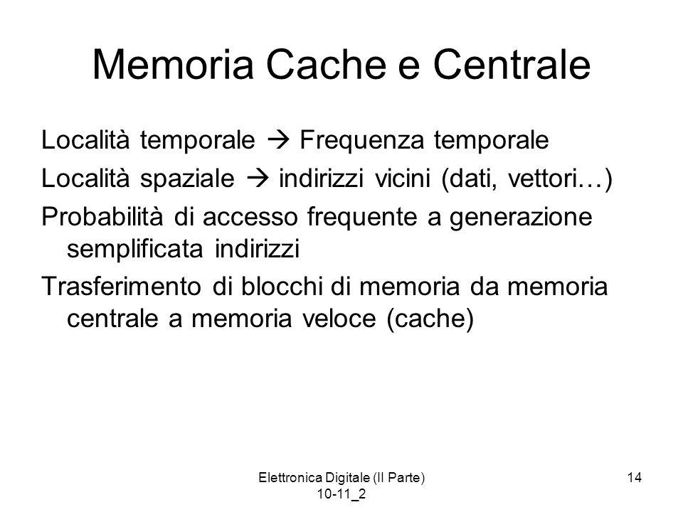 Memoria Cache e Centrale