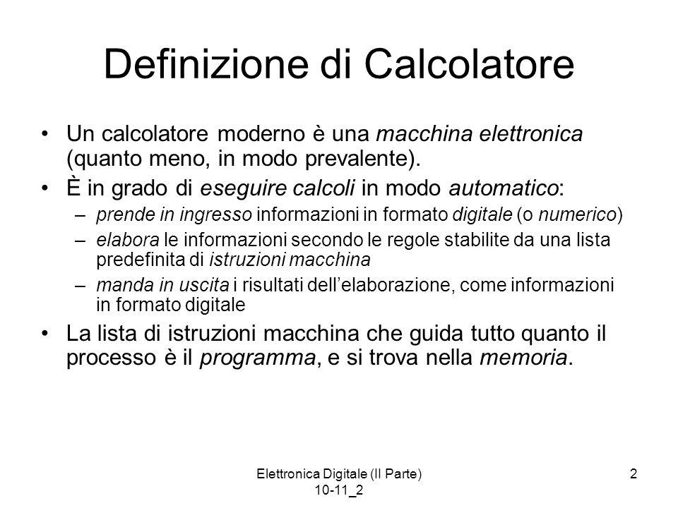 Definizione di Calcolatore