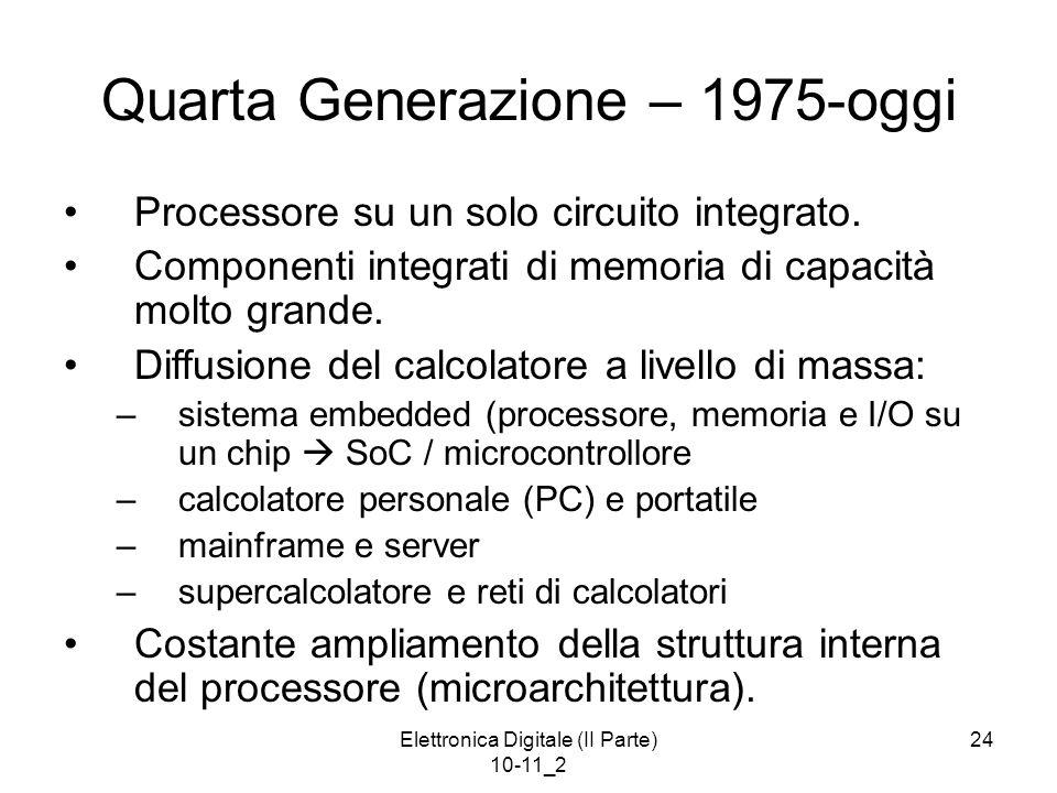 Quarta Generazione – 1975-oggi