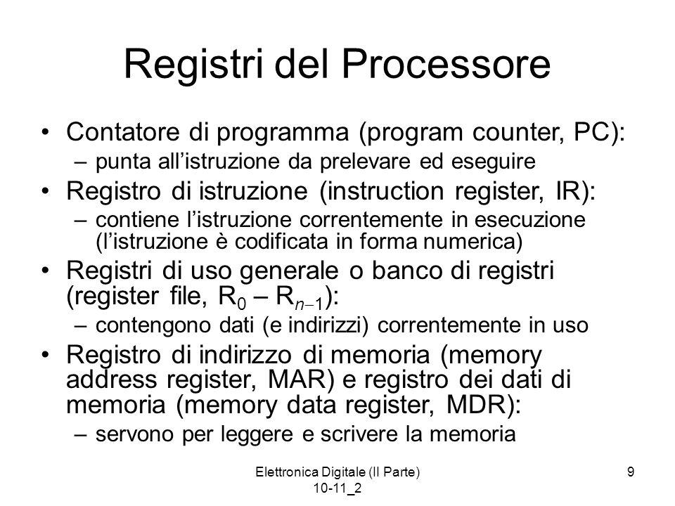 Registri del Processore