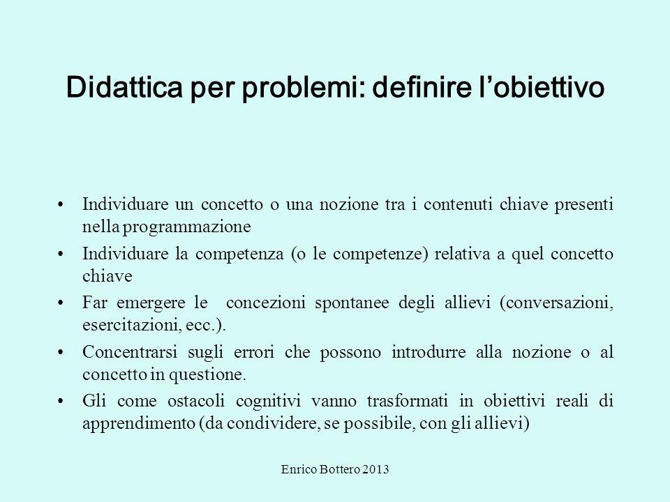 Didattica per problemi: definire l'obiettivo