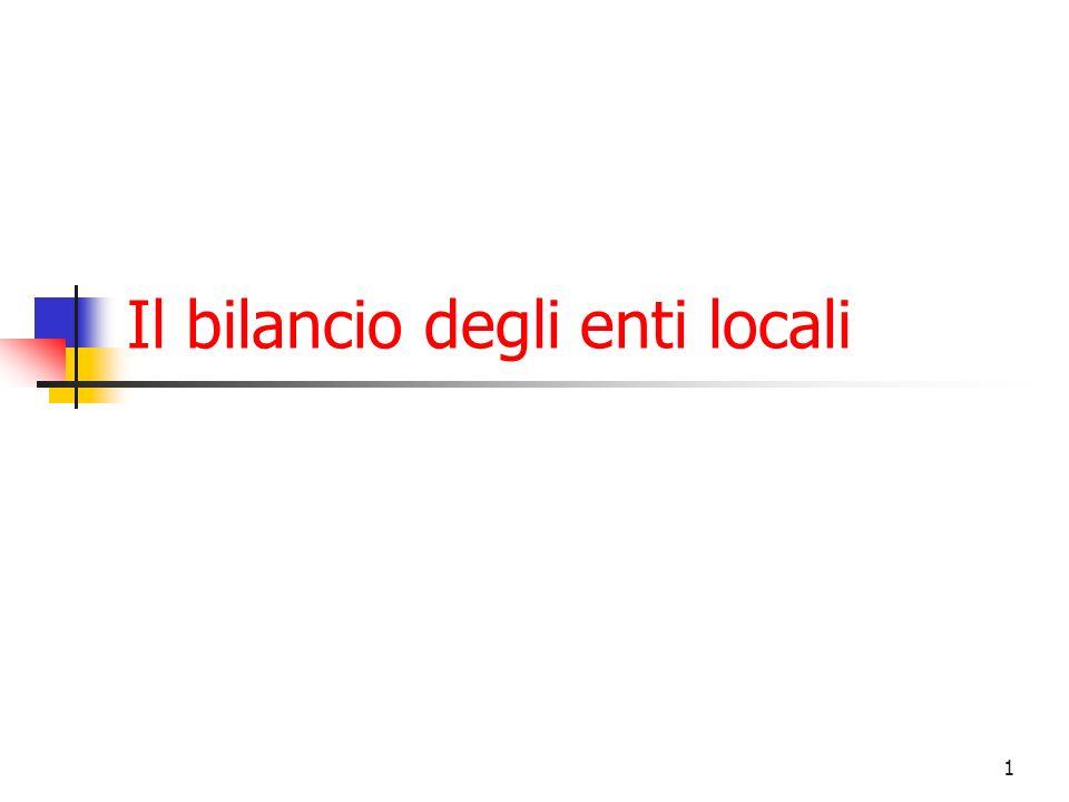 Il bilancio degli enti locali