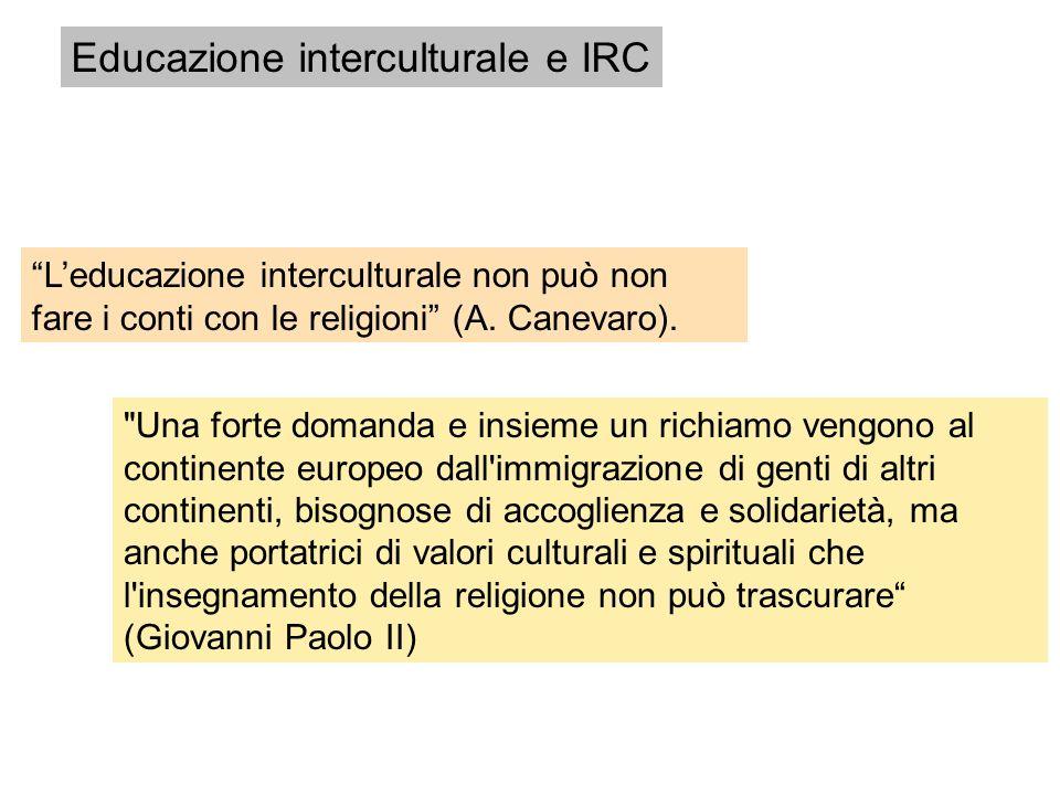 Educazione interculturale e IRC