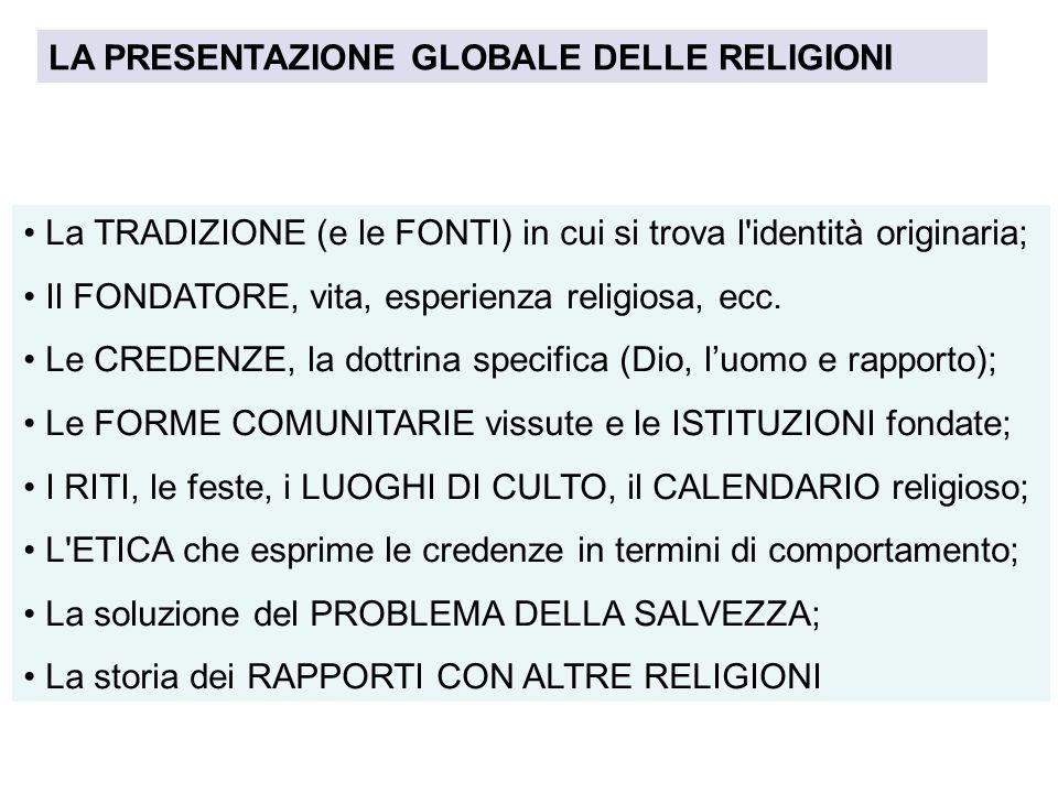 LA PRESENTAZIONE GLOBALE DELLE RELIGIONI