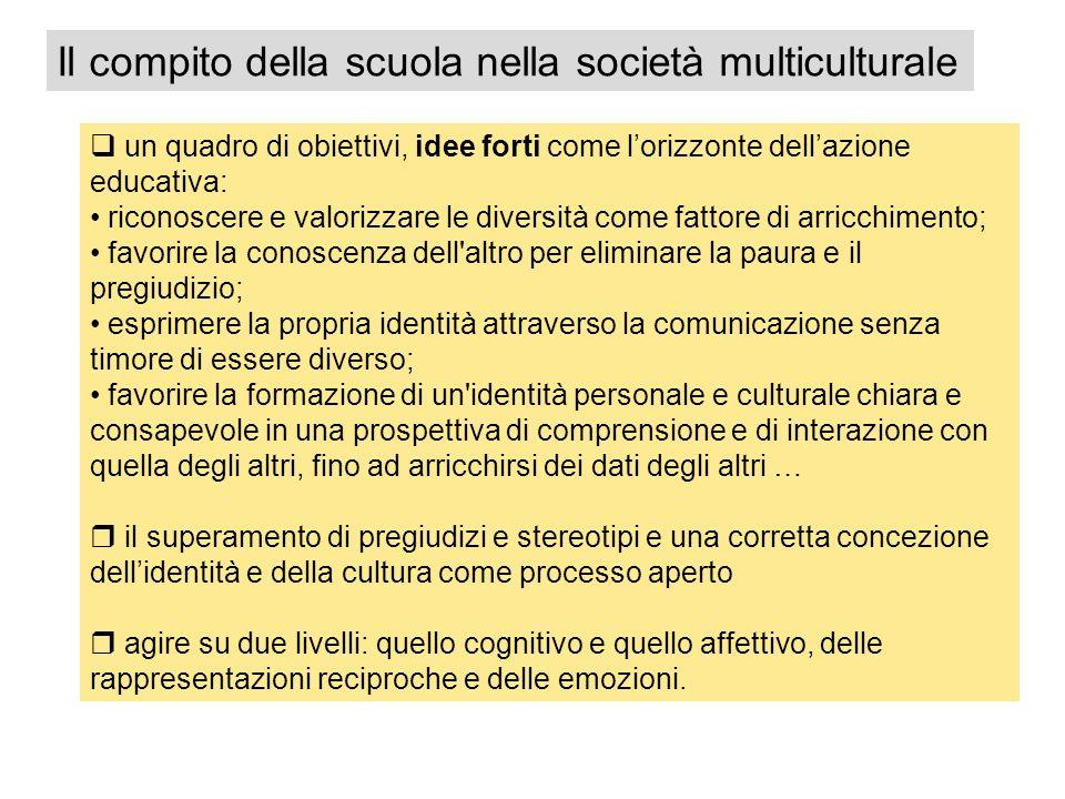 Il compito della scuola nella società multiculturale