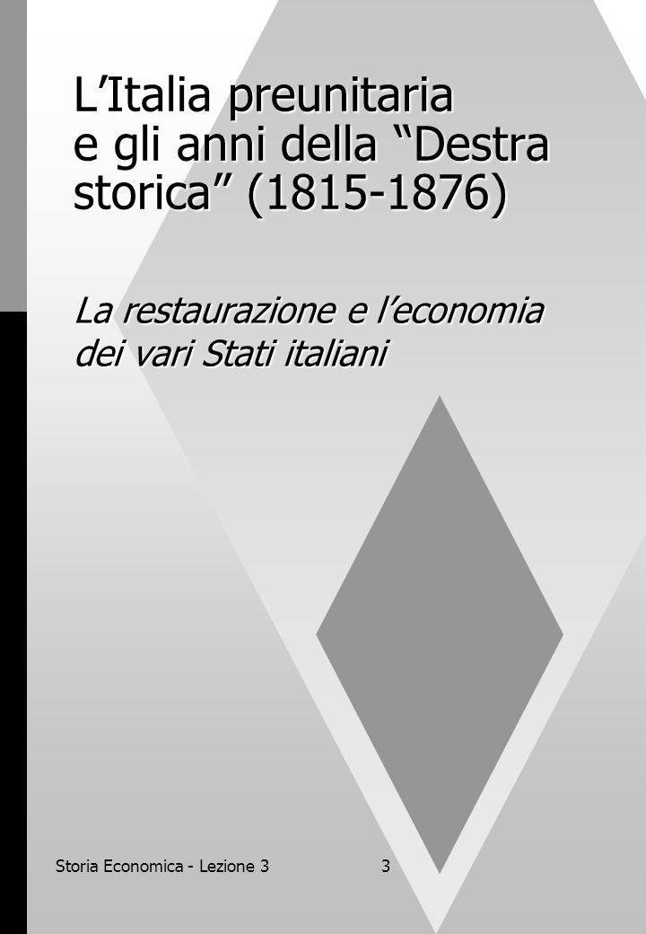 L'Italia preunitaria e gli anni della Destra storica (1815-1876)
