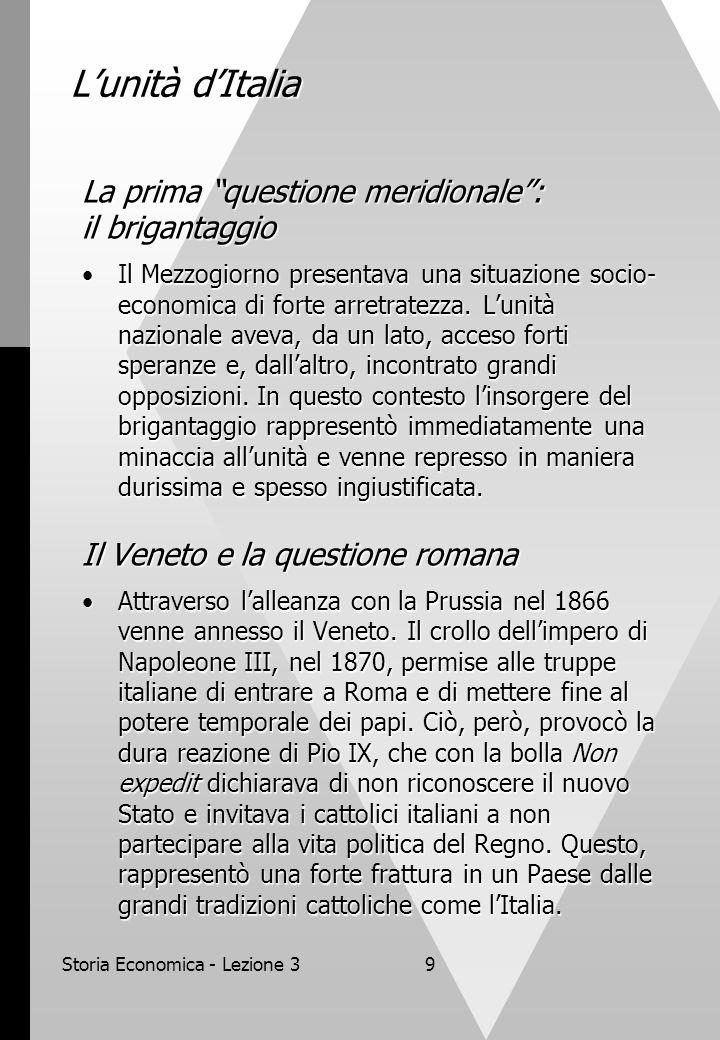 Storia Economica - Lezione 3