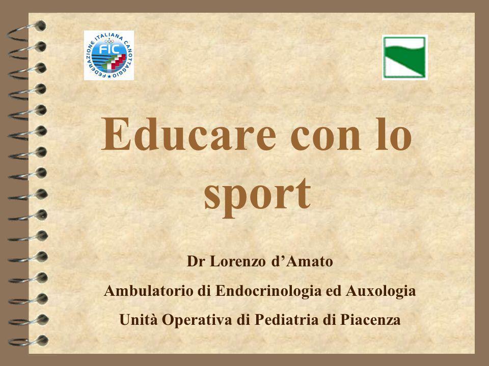 Educare con lo sport Dr Lorenzo d'Amato