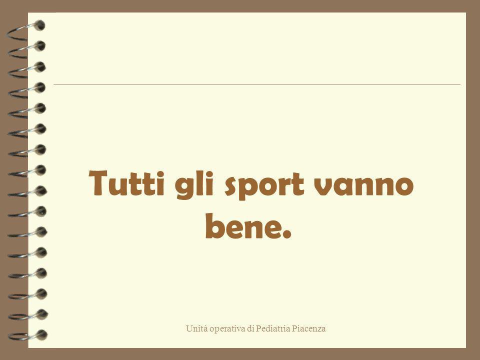 Tutti gli sport vanno bene.