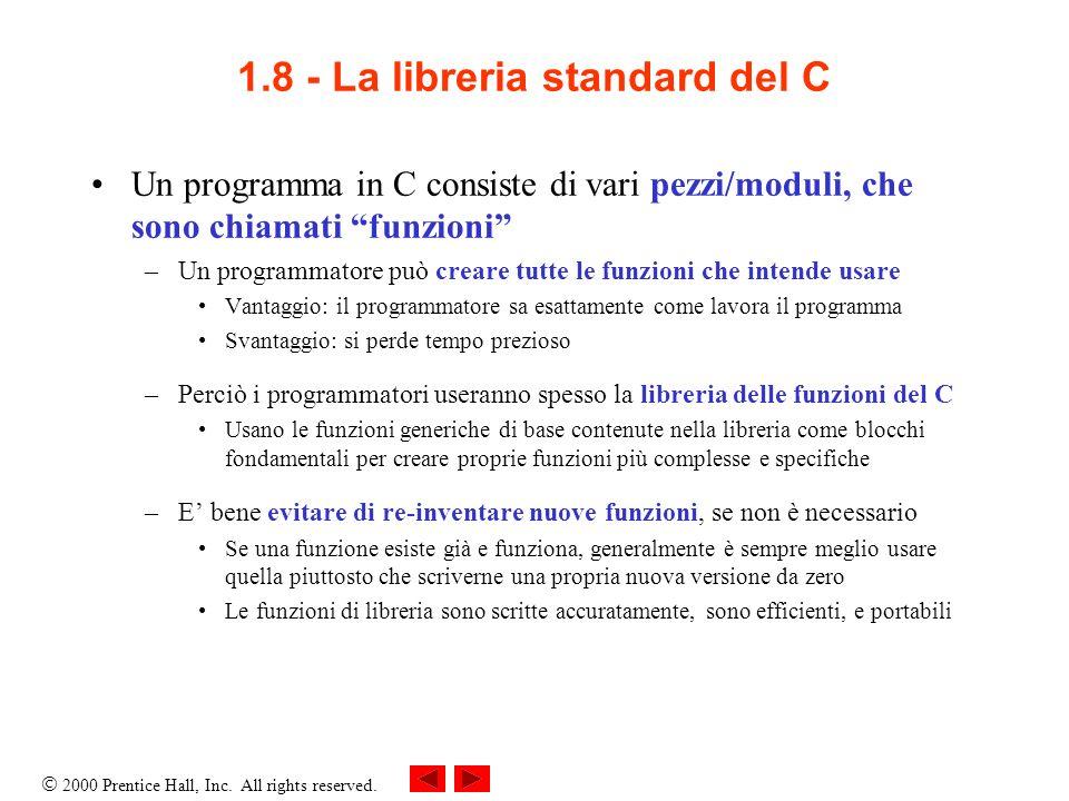 1.8 - La libreria standard del C