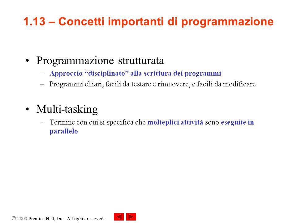 1.13 – Concetti importanti di programmazione