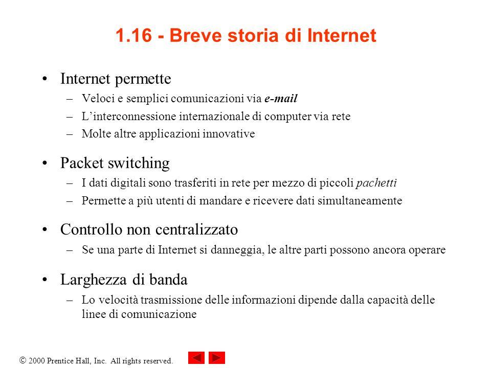 1.16 - Breve storia di Internet