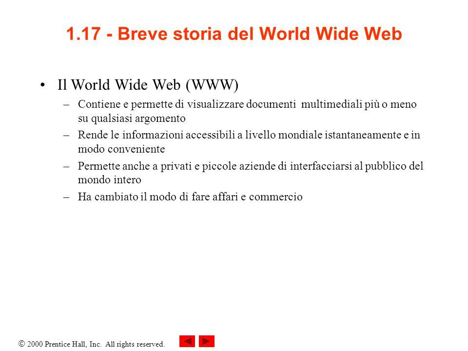 1.17 - Breve storia del World Wide Web