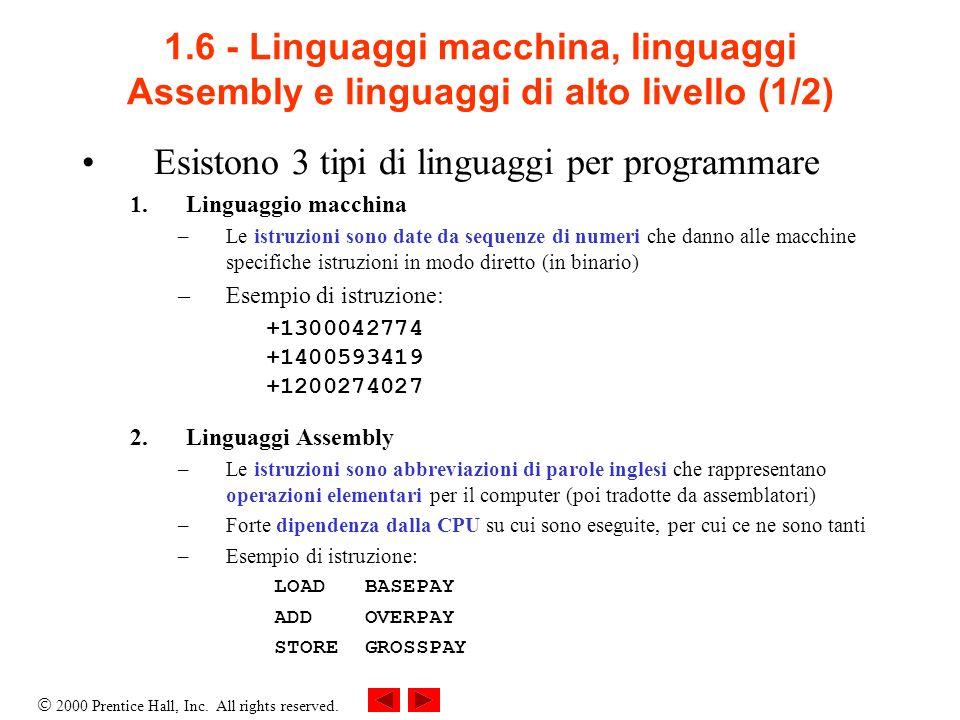 Esistono 3 tipi di linguaggi per programmare