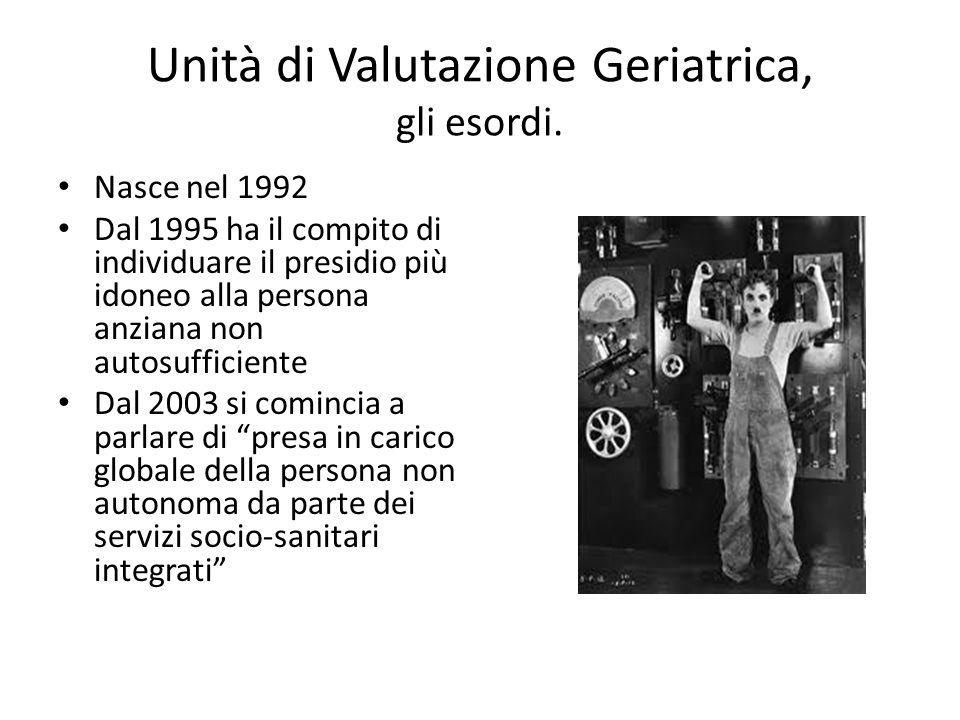 Unità di Valutazione Geriatrica, gli esordi.