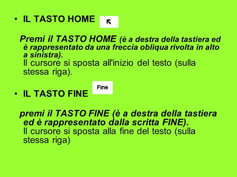 IL TASTO HOME